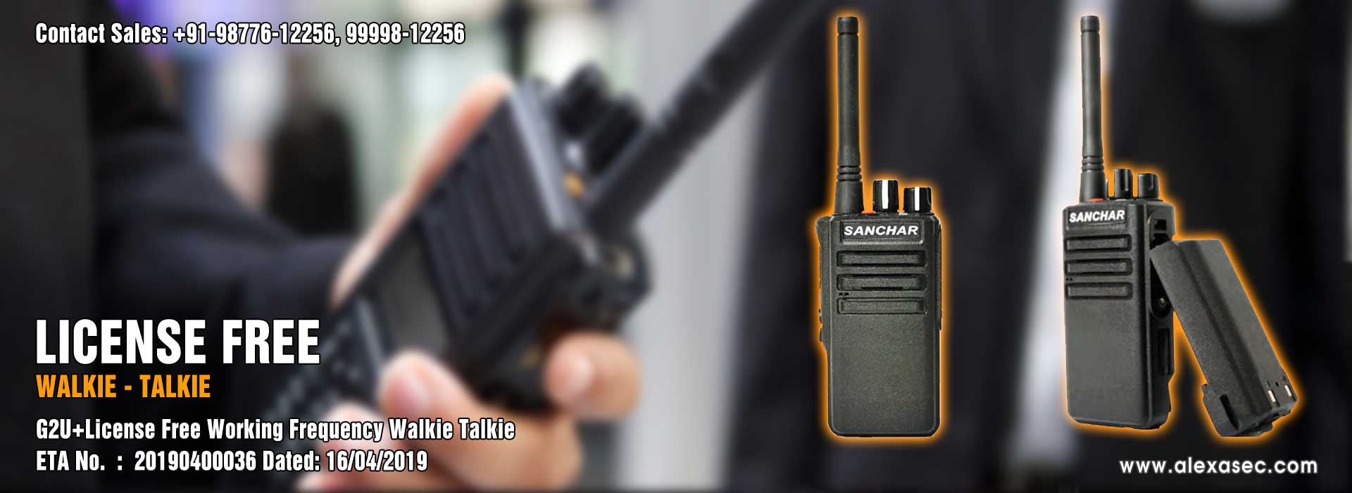 License Free Walkie Talkie dealers suppliers distributors in delhi India Punjab