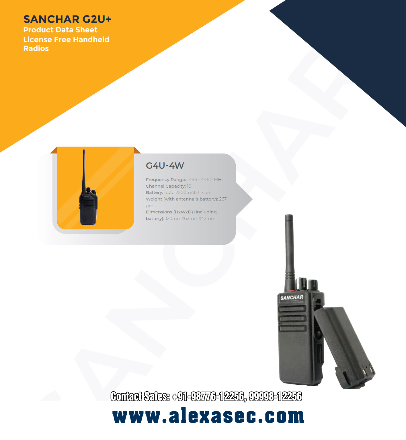 License Free Walkie Talkie dealers distributors in Delhi, NCR, Noida, India